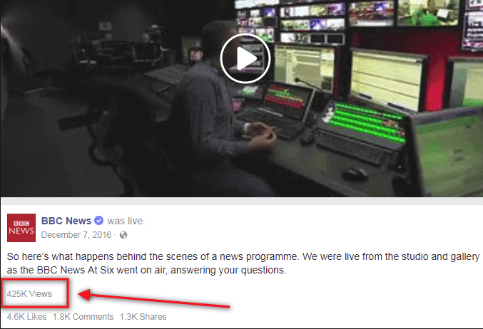 BBC News behind the scenes Facebook video