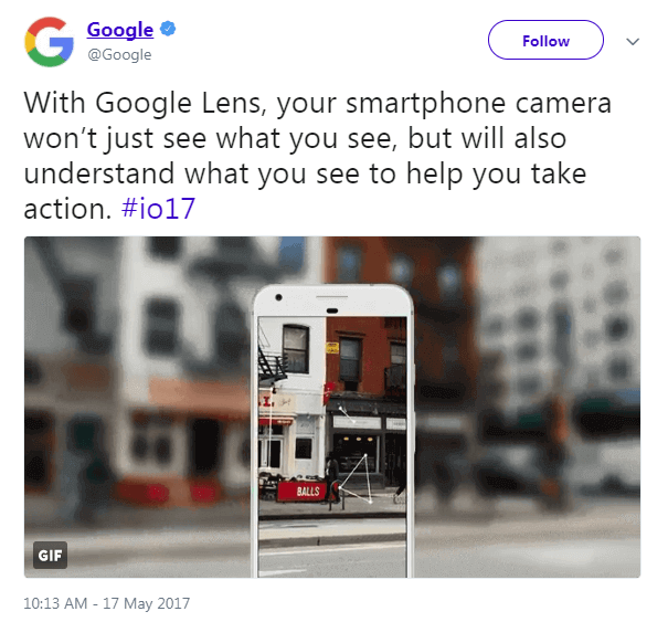 google lens visual search tweet