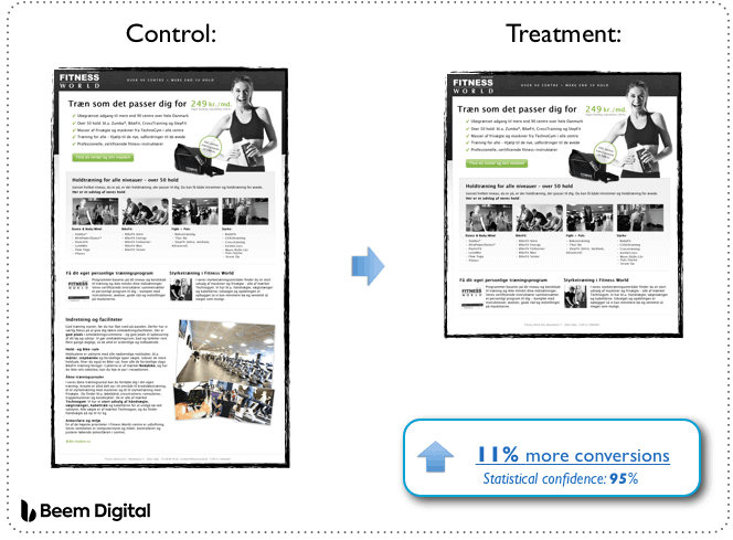 ab testing example long vs short form landing page omnidigit