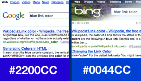 ux optimization color bing