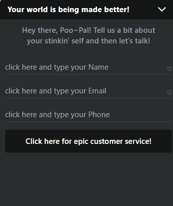 poopourri live chat box