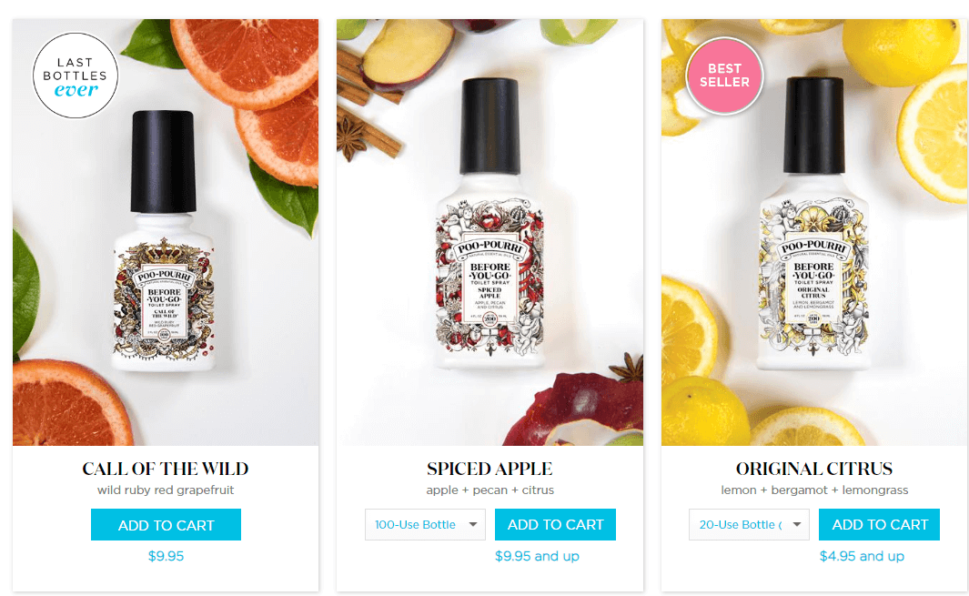 poopourri product page