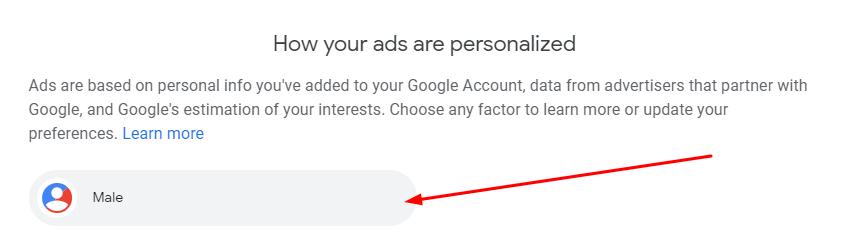 google ad personalization