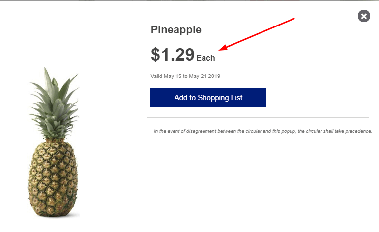 aldi grocery store pineapple price omnidigit