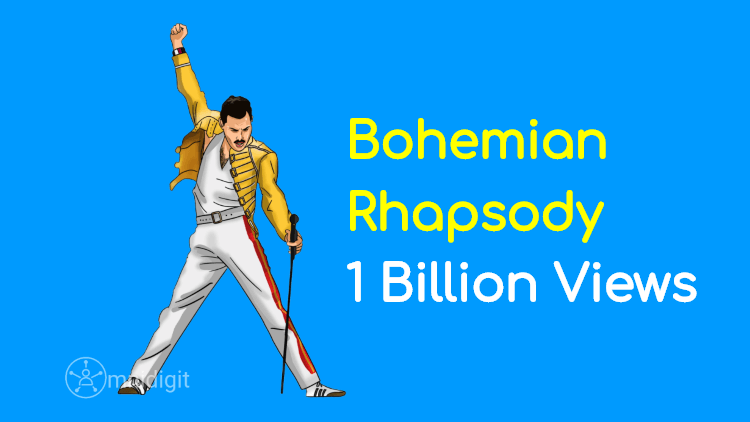 Bohemian Rhapsody One Billion views youtube omnidigit